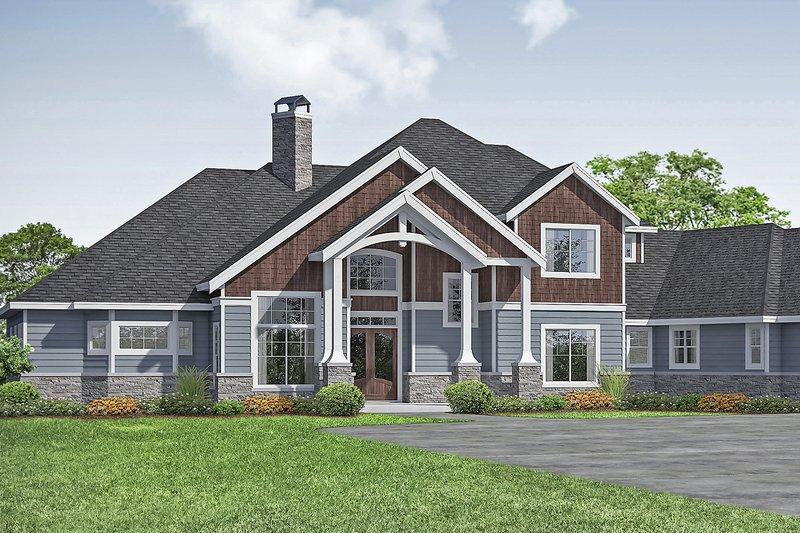 House Plan Design - Craftsman Exterior - Front Elevation Plan #124-1163