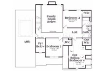 Traditional Floor Plan - Upper Floor Plan Plan #419-110