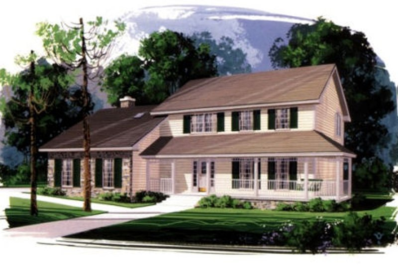 Country Exterior - Front Elevation Plan #56-167