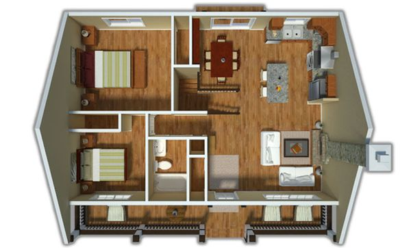 Country Floor Plan - Other Floor Plan Plan #18-1027