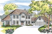 Colonial Style House Plan - 6 Beds 4.5 Baths 3085 Sq/Ft Plan #124-464 Exterior - Other Elevation