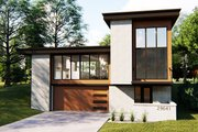 Contemporary Style House Plan - 3 Beds 2.5 Baths 2682 Sq/Ft Plan #455-209 Exterior - Front Elevation