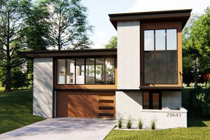 Contemporary Exterior - Front Elevation Plan #455-209
