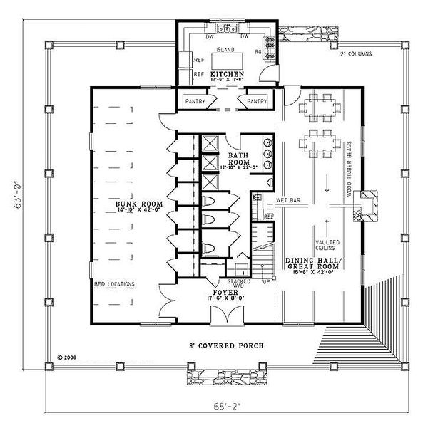 Country Floor Plan - Main Floor Plan Plan #17-653