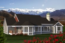 Dream House Plan - Ranch Exterior - Rear Elevation Plan #70-1198