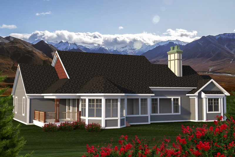 Ranch style house plan 2 beds 2 baths 2391 sq ft plan for Rambler house vs ranch house