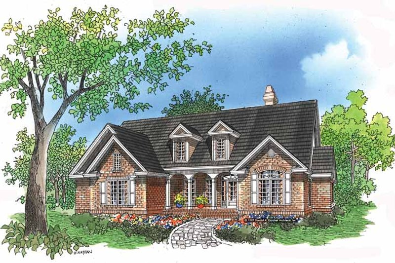 Country Exterior - Front Elevation Plan #929-395