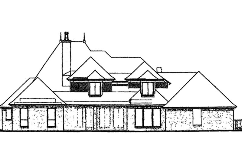Classical Exterior - Rear Elevation Plan #310-1201 - Houseplans.com