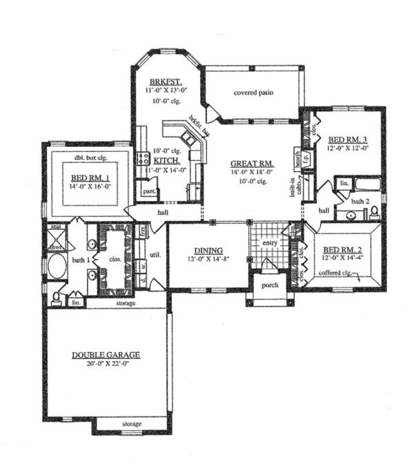 House Plan Design - Traditional Floor Plan - Main Floor Plan #42-723
