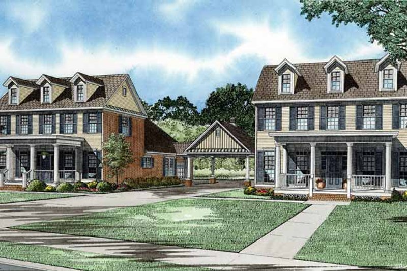 Country Exterior - Front Elevation Plan #17-2825 - Houseplans.com