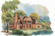 Dream House Plan - Victorian Exterior - Front Elevation Plan #429-252