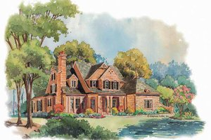 Victorian Exterior - Front Elevation Plan #429-252