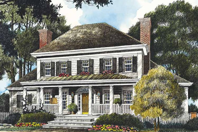 Country Exterior - Front Elevation Plan #429-356 - Houseplans.com