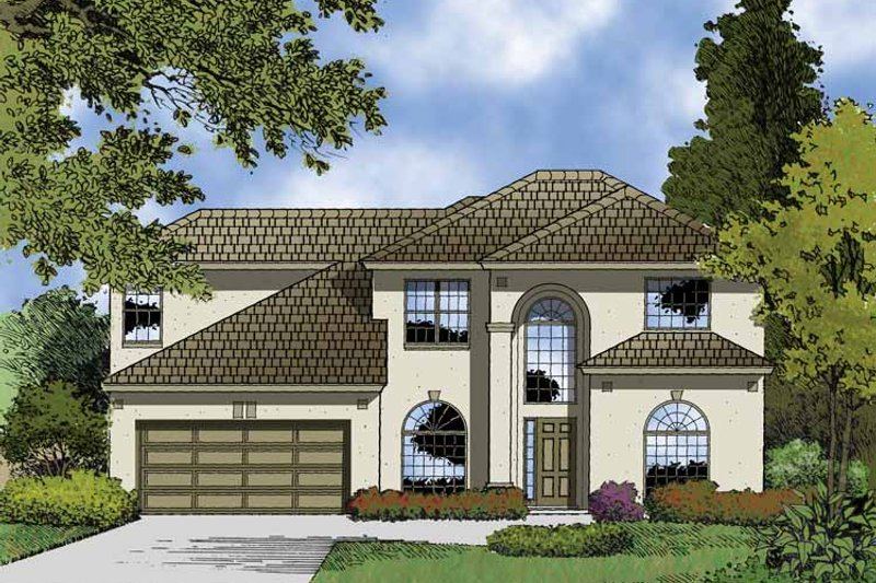 Contemporary Exterior - Front Elevation Plan #1015-49