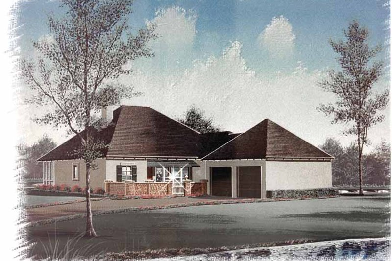 Country Exterior - Front Elevation Plan #15-326 - Houseplans.com