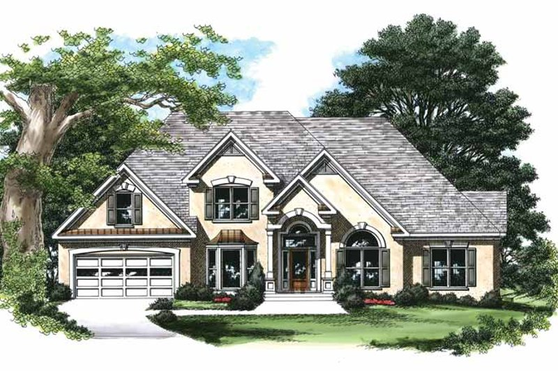Mediterranean Exterior - Front Elevation Plan #927-196