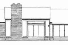 European Exterior - Rear Elevation Plan #72-299
