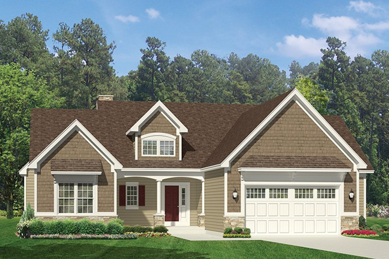 Architectural House Design - Ranch Exterior - Front Elevation Plan #1010-142