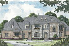 House Plan Design - European Exterior - Front Elevation Plan #453-597