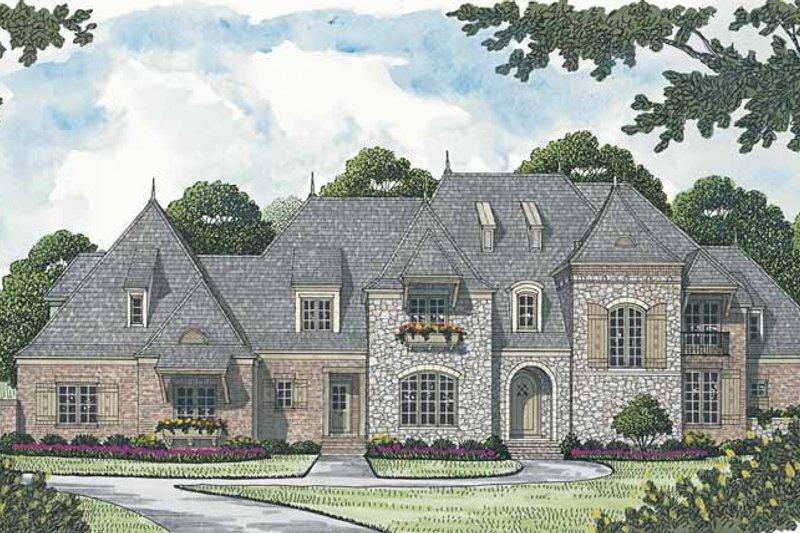 Dream House Plan - European Exterior - Front Elevation Plan #453-597