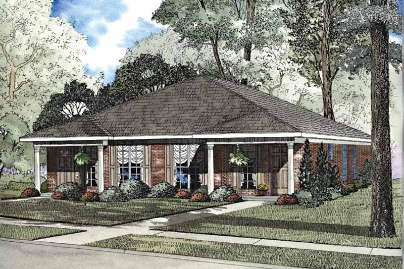 Dream House Plan - Classical Exterior - Front Elevation Plan #17-3155