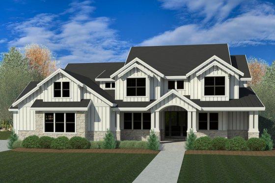 Craftsman Exterior - Front Elevation Plan #920-102