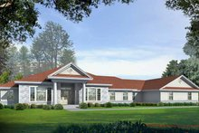 Colonial Exterior - Front Elevation Plan #1037-7