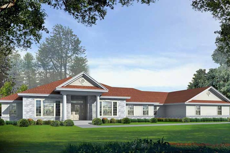 Colonial Exterior - Front Elevation Plan #1037-7 - Houseplans.com