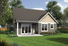 Craftsman Exterior - Rear Elevation Plan #48-900