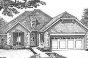 European Style House Plan - 3 Beds 2.5 Baths 2110 Sq/Ft Plan #310-399 Exterior - Front Elevation