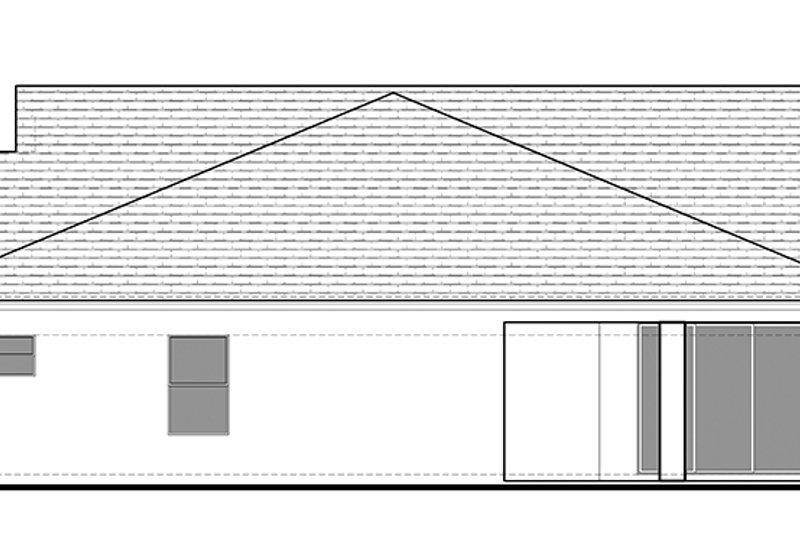 Ranch Exterior - Rear Elevation Plan #1058-98 - Houseplans.com