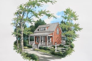House Blueprint - Cottage Exterior - Front Elevation Plan #45-589