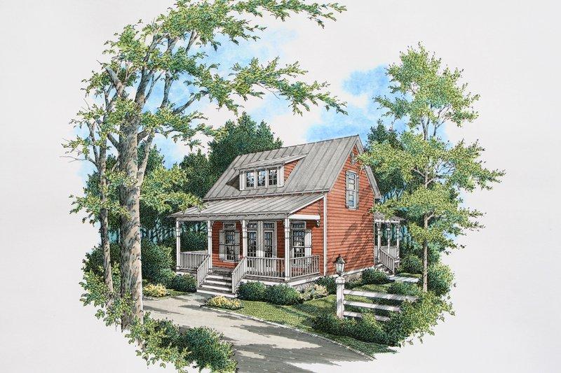 House Design - Cottage Exterior - Front Elevation Plan #45-589