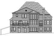 European Style House Plan - 5 Beds 3 Baths 3339 Sq/Ft Plan #119-223 Exterior - Rear Elevation