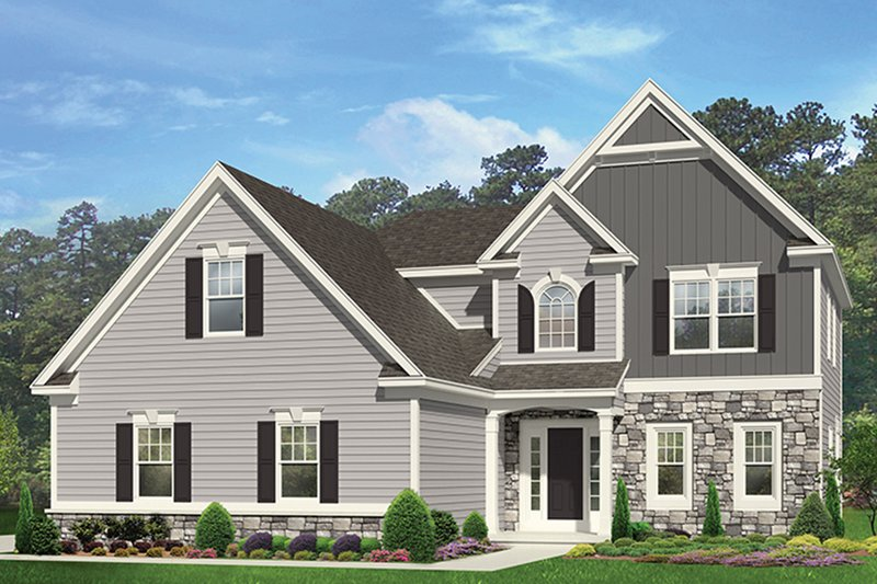 Colonial Exterior - Front Elevation Plan #1010-150 - Houseplans.com