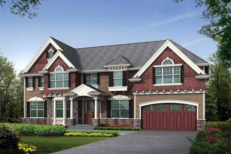 Craftsman Exterior - Front Elevation Plan #132-457 - Houseplans.com