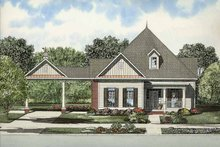 House Plan Design - Colonial Exterior - Front Elevation Plan #17-2869