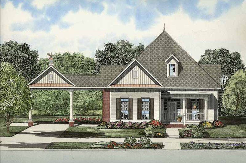 Home Plan - Colonial Exterior - Front Elevation Plan #17-2869