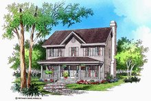 Dream House Plan - Country Exterior - Front Elevation Plan #929-373