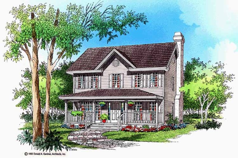 Country Exterior - Front Elevation Plan #929-373 - Houseplans.com