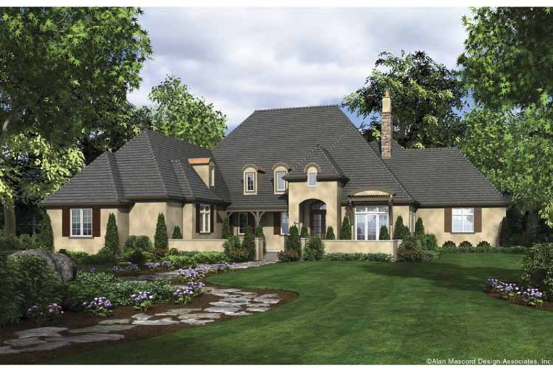 European Exterior - Front Elevation Plan #48-878 - Houseplans.com