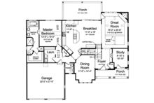 Traditional Floor Plan - Main Floor Plan Plan #46-850