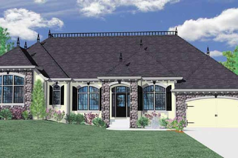 Traditional Exterior - Front Elevation Plan #509-318 - Houseplans.com