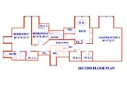 European Style House Plan - 6 Beds 6 Baths 4664 Sq/Ft Plan #3-343 Floor Plan - Upper Floor