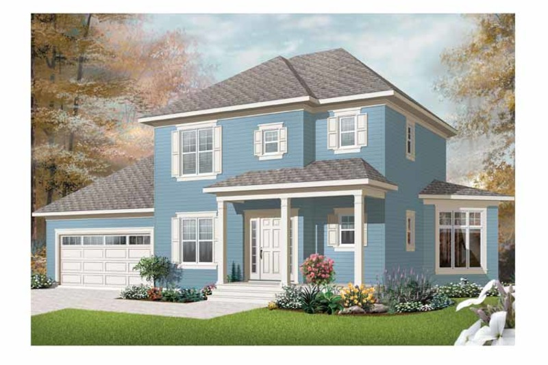 Country Exterior - Front Elevation Plan #23-2405 - Houseplans.com
