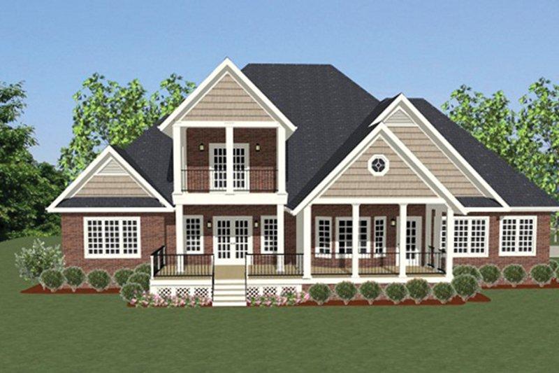 Traditional Exterior - Rear Elevation Plan #898-37 - Houseplans.com