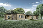 Modern Style House Plan - 3 Beds 2.5 Baths 2116 Sq/Ft Plan #924-4 Exterior - Front Elevation