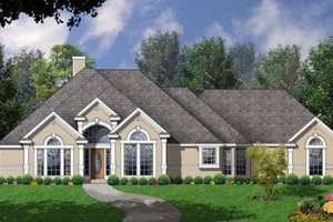 European Exterior - Front Elevation Plan #40-409