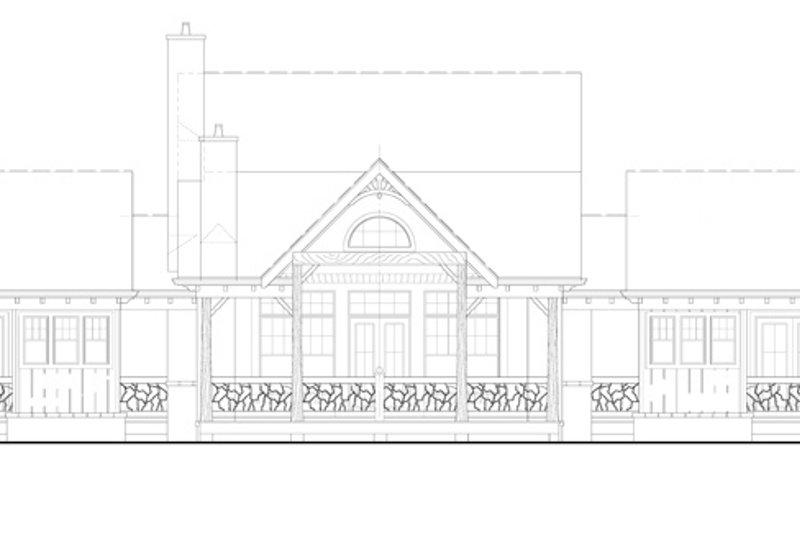 Craftsman Exterior - Rear Elevation Plan #54-372 - Houseplans.com