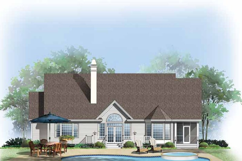 Home Plan - Traditional Exterior - Rear Elevation Plan #929-481